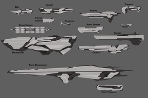 Concept Art - Spaceships by Judan