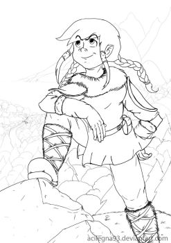 Viking [Lineart] (Updated) by Acilegna93