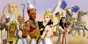 Egyptian Characters reworked by dashinvaine