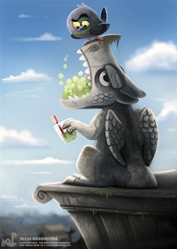 Daily Painting 1642# - Gargoyling by Cryptid-Creations