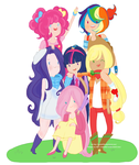 my little pony version humano by Siulyvale