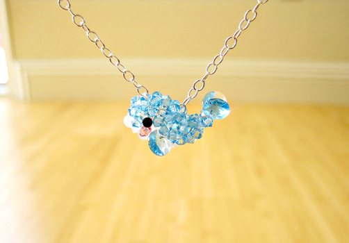 Crystal Whale Necklace by SparkleMeHappy