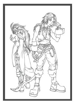 Final Fantasy IX: Zidane and Kuja Lines by Marvolo-san