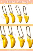 Banana Charms by whitefrosty