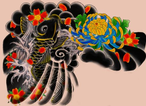 Japanese Tattoo design by Perpetuum-Mobile