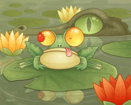 swamp snack by fizzgig