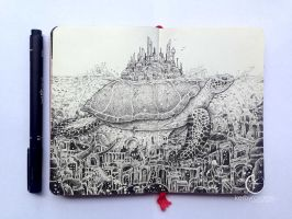 MOLESKINE DOODLES: Lost City by kerbyrosanes