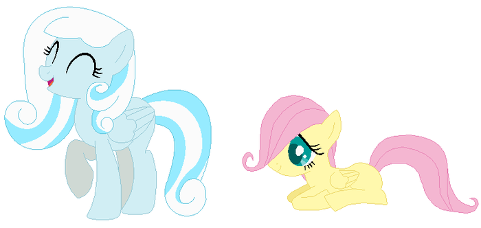 Snowdrop and Fluttershy by JanethePegasus