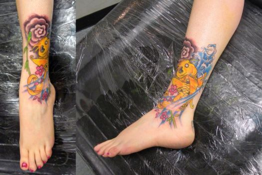 Koi Fish on Ankle by PainlessJames