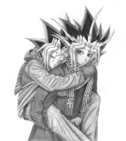 Commission for Black-Wren: Yugi and Atem 2 by Yamigirl21