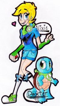 Hypermode Nixie and Daxter the Squirtle .:C19:. by AutumnEmerald