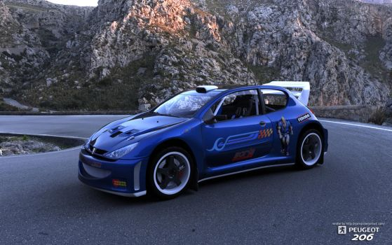 Peugeot 206 RJ Edition render1 by RJamp