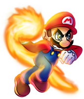 SSB Collab: Mario Fires it up! by MudSaw