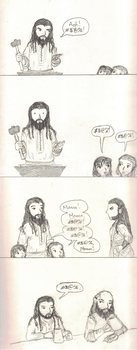 Why Thorin's Beard Is Short by Hasami-hime