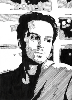 Andrew Scott - Pen and Ink by BadWolf1818