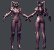 Cyber Chun-Li Wip 15 Wires by HazardousArts