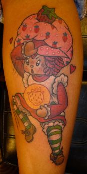 Strawberry Shortcake Tattoo by JBrettPrince