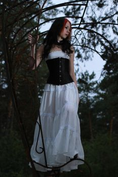 Lady in white 10 by DeLucr-Stock