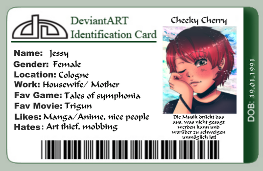dA ID card by CheekyCherryArt