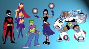 New Teen Titans by DarthZemog