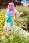 Fluttershy in the Grass  - Galla dress by koi-ishly