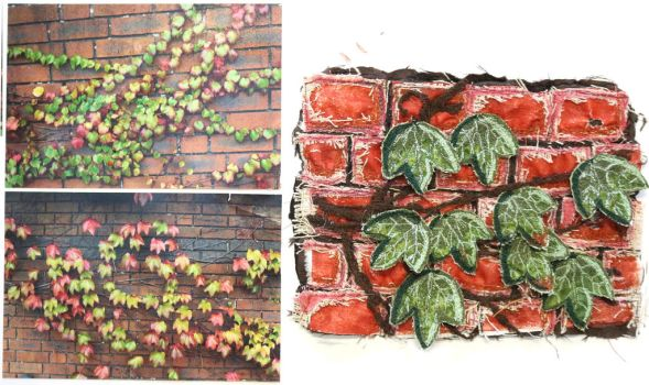 Textiles detail: Vine on wall by phuonghn