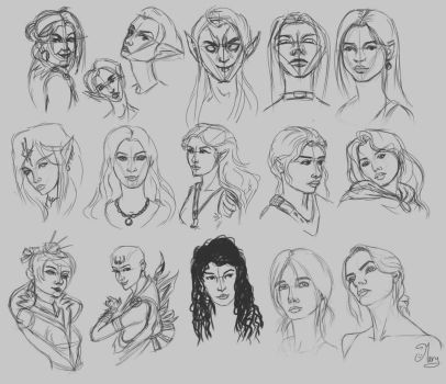 Face Studies by mary3m