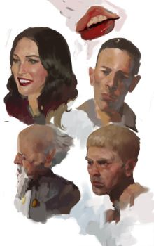 Face practice by Daemaen