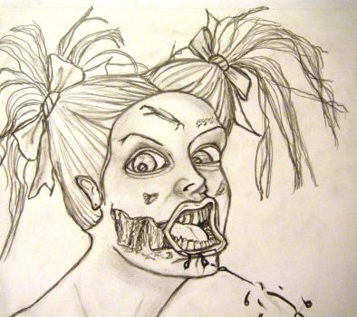 Zombie Gurl Closeup by Marydoll512