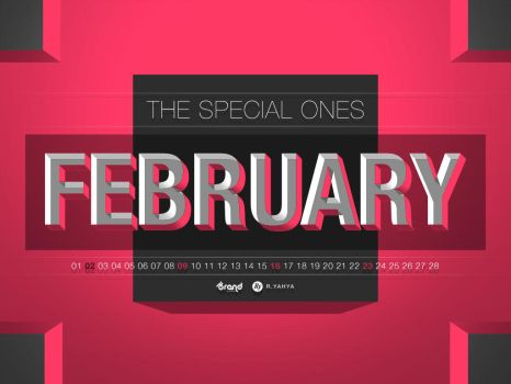 Free Wallpaper Calendar of February 2014 by yahya12