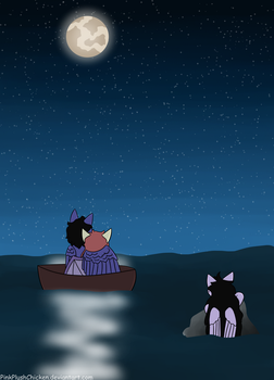 A peaceful night by PinkPlushChicken