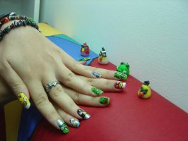 Angry birds by MorticiaVamp
