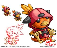 Art Sheet - Team Magma Torchic by Tailic
