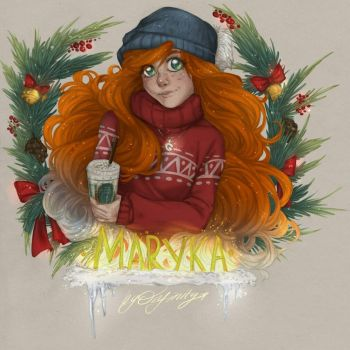 Red-haired girl  by NikaInfinity