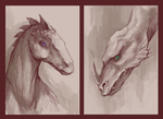 Two Dragon Heads by AnastasiaMorning