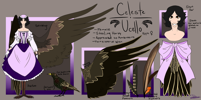 .:Celeste Ucello Ref:. by AshlynnisPanicking