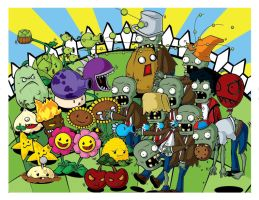 Plants VS Zombies by Aniteen9