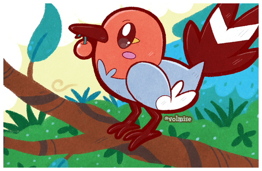 Daily Draw: Fletchling by Volmise