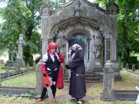 Grell and Undertaker by kyo125