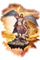 St. Michael vs. Satan colour by Empyrean-DesignWorks