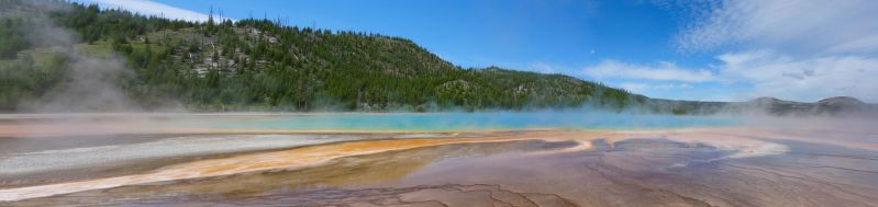 Grand Prismatic Spring Panorama by Smabbage