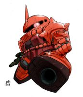SD Char Zaku 2 by Mintyrobo