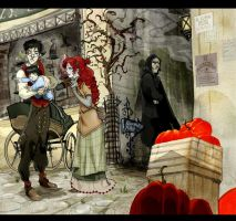 Snape and the bad encounter by Sally-Avernier