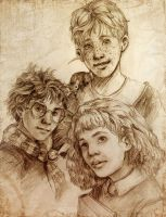 Harry Potter: First Year Trio by H-Johanna