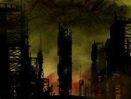 destroyed city by damien6160
