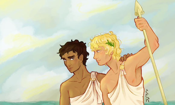 Achillies And Patroclus by iRollwithit