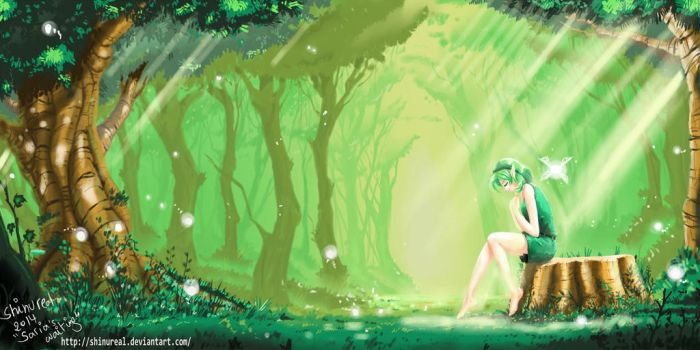 Saria's waiting by ShinuReal
