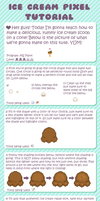 Ice Cream Pixel Tutorial by sugarlette