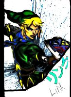 Hyrule Warriors Link by f117lionhartgordon