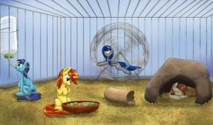 Everyons In Cage by otakuap